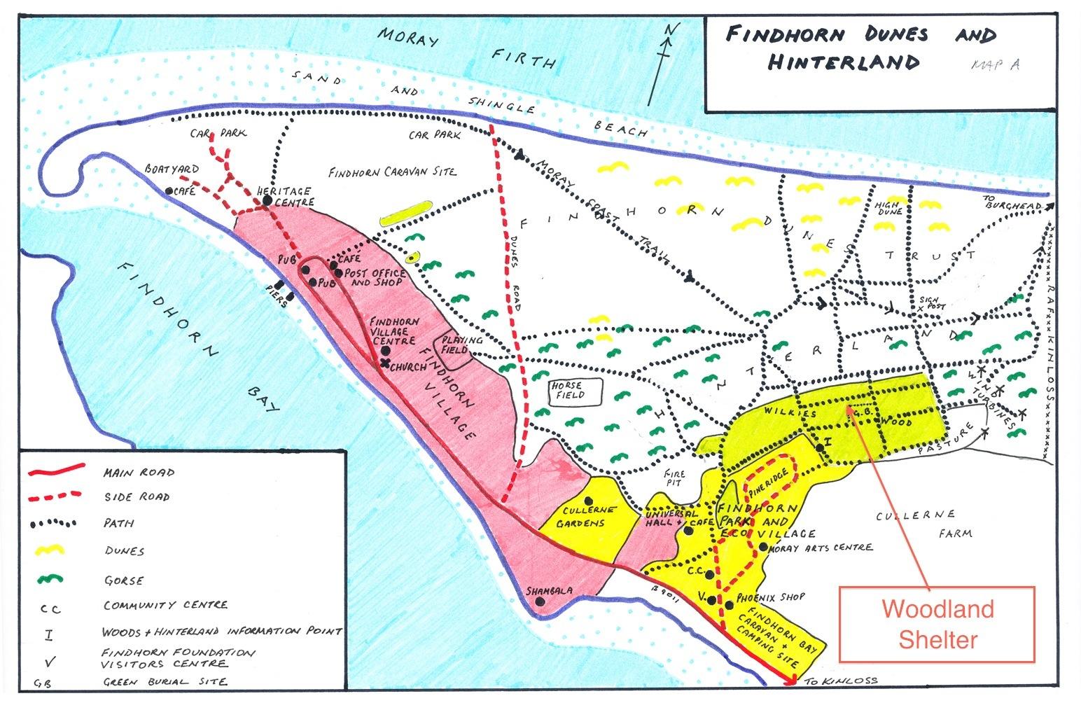Findhorn Hinterland map